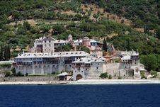Monastery On Athos Mountain Stock Image