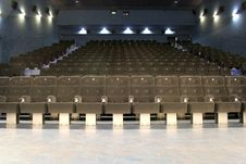 Free Theater Room And Chairs Stock Image - 9837351