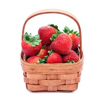 Free Basket Of Strawberries Stock Images - 9837984