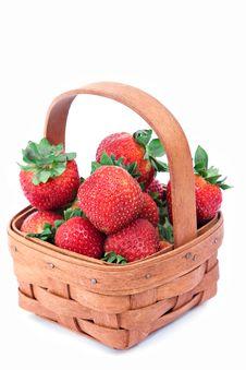 Free Basket Of Strawberries Royalty Free Stock Image - 9837996