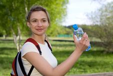 Free Active Woman Drinking Water Stock Photo - 9838010