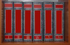 Free Books On The Shelf Royalty Free Stock Image - 9838116