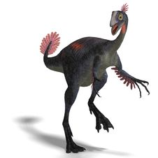 Giant Dinosaur Gigantoraptor Royalty Free Stock Photos