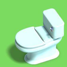 Free White Toilet Stock Image - 9838201