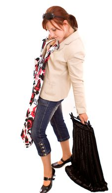 Free Woman On Shopping Stock Photography - 9838262
