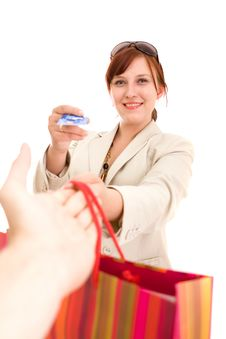 Free Young Woman On Shopping Stock Photography - 9838282