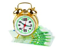 Free Alarm Clock And Money Stock Photo - 9838330