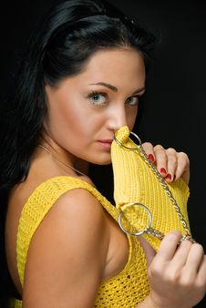 Free Portrait In Yellow Royalty Free Stock Photography - 9838987