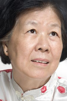 Free Asian Old Lady Royalty Free Stock Photography - 9839217