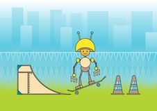 Free Comic Robot Stock Photos - 9839853