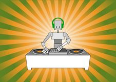 Free Dj Robot Royalty Free Stock Photography - 9839857