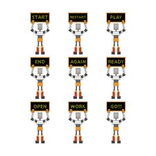 Free Funky Robots Royalty Free Stock Photography - 9839867