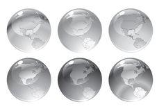 Globe Icons Royalty Free Stock Photography