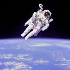 Free Weightless Float Astronaut Space Universe Stock Photography - 98351482