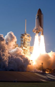 Free Space Shuttle Start And Take Off Stock Photos - 98351483