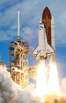 Free Space Shuttle Start And Take Off Stock Image - 98351531