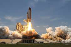 Free Space Shuttle Start And Take Off Stock Photo - 98351670
