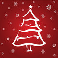 Free Red Christmas Tree Stock Images - 9840334