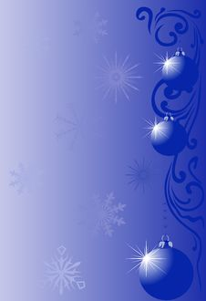 Free Light Blue Christmas Decoration Stock Photos - 9840293