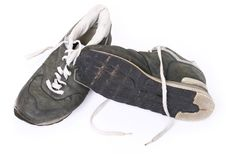 Free Old Grungy Running Shoes Royalty Free Stock Photography - 9840667