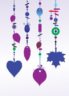 Free Decorative Wind Chimes Stock Images - 9840714