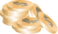 Free Golden Coins Royalty Free Stock Photo - 9841205