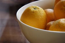 Free Fresh Oranges In A China Bowl Stock Image - 9842081