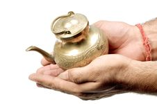 Free Holy Vessel In Hands Royalty Free Stock Images - 9842699