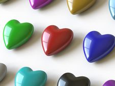 Heart Collection - Push Here Royalty Free Stock Images