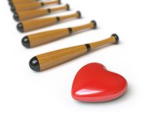 Free Heart Collection - Push Here Stock Photography - 9842902