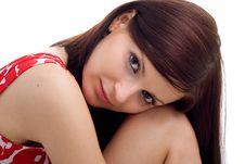 Free Portrait Of Young Beautiful Woman Stock Photo - 9843590