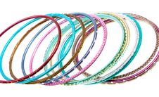 Free Close-up Colorful Wrist Bands Isolated On White Stock Photos - 9844903