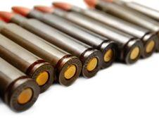 Free AK-47 Cartridges Stock Photo - 9845010