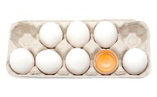 Free Egg, Yolk In Shell Royalty Free Stock Photos - 9845318