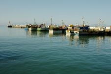 Free Fishing Boats In Harbour Royalty Free Stock Image - 9845596