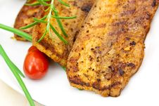 Free Roasted Belly Of Pork With Cherry Tomatoes Stock Images - 9846164