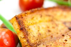 Free Roasted Belly Of Pork With Cherry Tomatoes Stock Image - 9846211