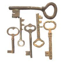 Free Old Keys Royalty Free Stock Photo - 9847015