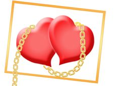 Free Two Hearts Royalty Free Stock Photography - 9847077