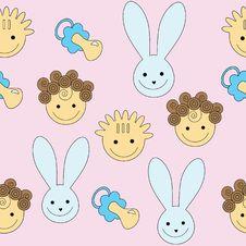 Seamless Baby Pattern Royalty Free Stock Photo