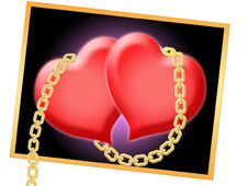 Free Two Hearts Royalty Free Stock Photo - 9847125