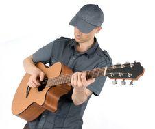 Free Man Playing Guitar Stock Photos - 9847723