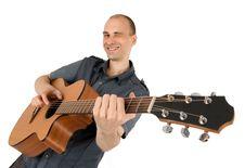 Free Man Playing Guitar Stock Image - 9847731