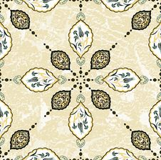 Antique Ottoman Grungy Wallpaper Raster Design Royalty Free Stock Photography