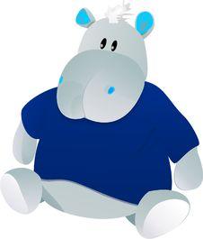 Toy Hippo Stock Photo