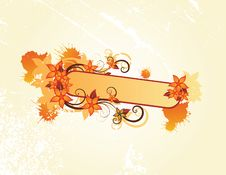 Free Autumn Floral Frame Royalty Free Stock Photography - 9848037