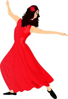 Free Dancing Girl In Red Stock Photography - 9848132