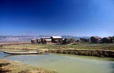 Village,Myanmar Royalty Free Stock Images