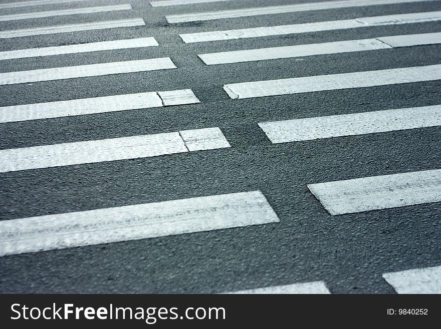 Pedestrian. Zebra.