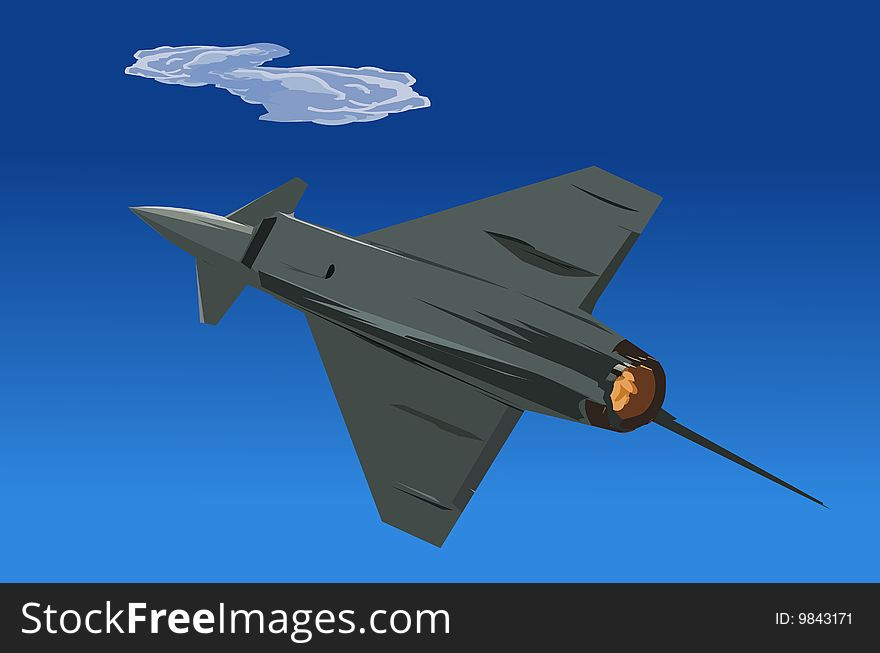 Intercepter fighter jet-illustration-material